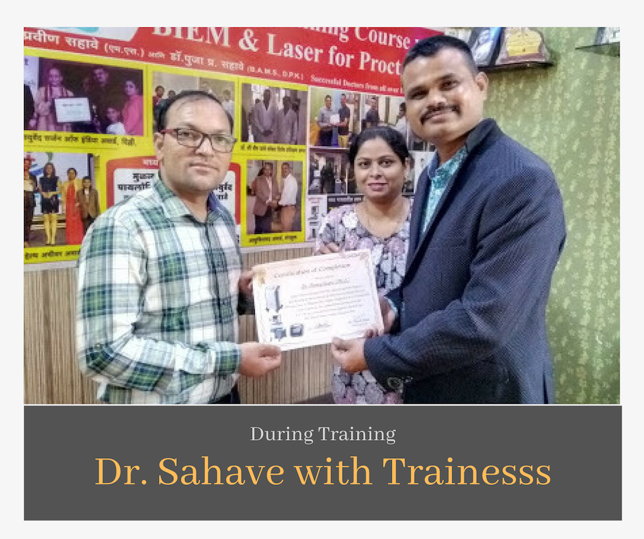 Dr Sahave with Trainee